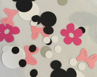 Minnie Mouse Party Decorations - Minnie Mouse Confetti - Minnie Party Confetti - Minnie Mouse Party - Minnie Party Decor - Minnie Confetti