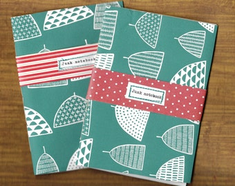 Two Handmade Junk Notebooks, A6 Jotter, Notepads, Recycled Scribblers, Journals, Pads, Jotters