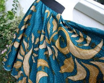 Batik Long Twirl Skirt for Girls - Size 7