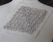 Cute embroidered    applique  with rhinestones 1  piece listing