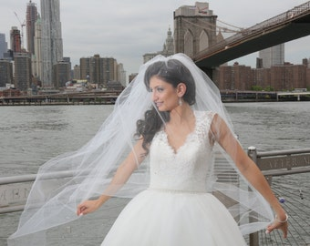 Wedding Veil - Cathedral Two Tier Veil with Heavily Scattered Swarovski Crystals
