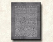 Desiderata 11x14 Mounted Word Art Print - The NEW GRAYS - Motivational Max Ehrmann - Cafe Mount