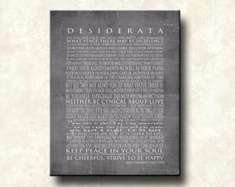 Desiderata 11x14 Mounted Word Art Print - The NEW GRAYS - Motivational Max Ehrmann - Cafe Mount