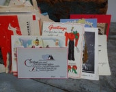 Vintage Antique Christmas Card Collection