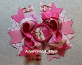 Barbie Inspired Bow Bottle Cap Bow Pink Bow Fashionista Bow Pink Boutique Bow Layered Bow Baby Girls Hair Accessories A3