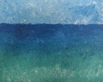Hand Painted Canvas Wall Art 'Sea'