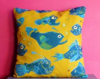 x 1 Angler Fish Embellished Cushion