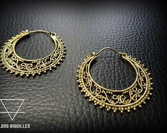 Boucles d'oreille laiton  # brass earrings
