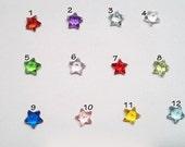 Crystal Star Birthstone For Glass Floating Locket - 5mm