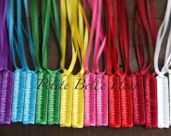 Ribbon Barrette | Retro Braided Barrette Set | 80s Barrettes | Ribbon Barrettes | Colorful Barrettes