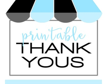 PRINTABLE Thank Yous - #DIY #Print from hom