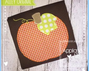 Stemstitch Pumpkin Applique Design