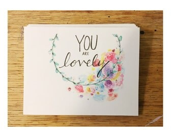 YOU ARE LOVELY (folded cards) pack of 10