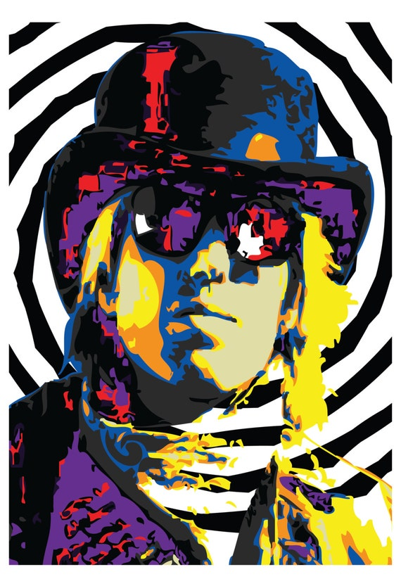 Items Similar To Wall Art Home Decor Tom Petty Pop Art Limited Print On Etsy