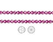 Swarovski Crystal Beads Fuchsia 5000 Faceted Round 6mm Package of 12
