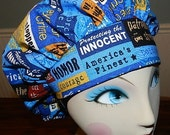 Honor Our Police Officers  Banded Bouffant Surgical Cap