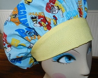 Charlie Brown Be Nice  Banded Bouffant Surgical Cap