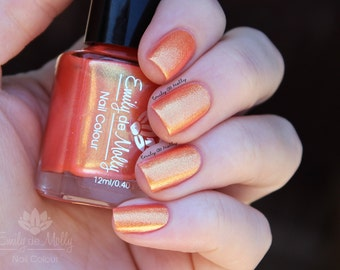 "Nail polish - ""Major Themes""  yellow gold to orange duochrome foil"