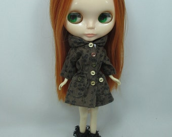 Outfit costume long sleeve dress for Blythe doll 790-58