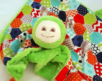 Turtle Security Blanket, Baby Blanket, Lovey, Baby Boy, Baby Toy, Teething Blanket, Turtle Nursery, Children and Babies, Stuffed Plush