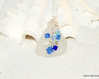 Beach Glass Necklace - Sea Glass  Necklace - Lake Erie
