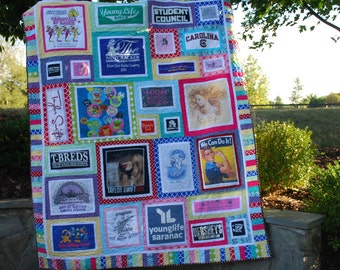 CUSTOM T-shirt Quilt - Memory Quilt - Made to Order - Deposit Only - Make a UNIQUE Family Heirloom