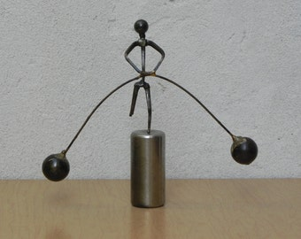 Artisan Kinetic Desk Sculpture Tight Rope Walker Figure