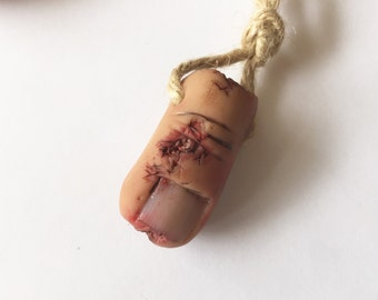 Severed Toe Key Ring