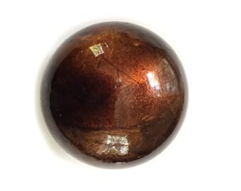 "Decorative Metallic Ball Pottery Ball, Clay Ball Sculpture, 4"" Hollow Clay Orb Sphere  Bronze"