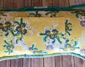 "Memory Foam Nap Mat in Flower Pop Designer Print (extra long 60"") with FREE Embroidery"