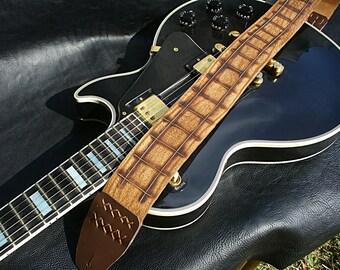 "Handmade Leather Guitar Strap. ""Clan""."