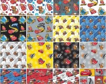 Disney Cars Quilt Fabric 16 Fat Quarter Set