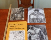 Instant Art Collection: Four Bears (1 watercolor and 3 drawings) by Kenney Mencher