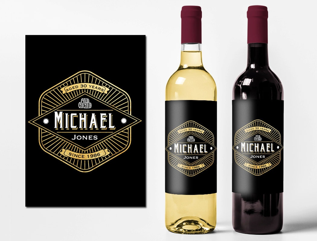 Custom Birthday Wine Labels Personalized Wine Bottle Stickers