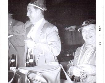 Vintage Photograph - Guys at a Party - Vintage Photo, Vernacular, Ephemera (C)