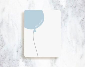 Note Card Set // Balloon // Children's Stationery