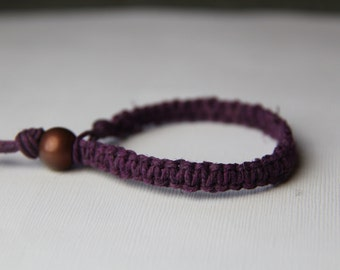 Plum Hemp Bracelet