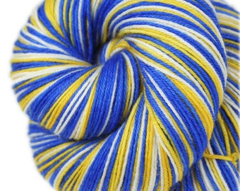 GS WARRIORS Superwash Merino/Nylon self-striping fingering sock yarn