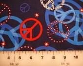 Fabric - Patriotic Peace Signs  HFG-C9705