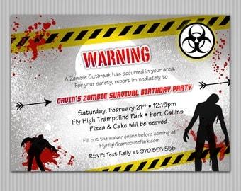 Zombie Invitation *Digital Download*