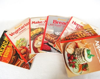 Vintage Sunset Cookbooks Appetizers, Make-Ahead, Soups, Mexican, Breads, Veggies, Favorite Recipes from the Magazine of Western Living CB338