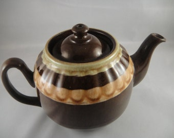 Tea Pot Small Ceramic Multi Shaded Brown England