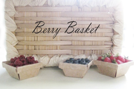 Handmade Paper Basket Dailymotion : Handmade paper basket with blueberries th scale miniatures