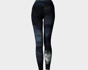 Designer Clothing -  Raven Painting - Artistic All Over Printed Leggings