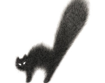 Cat Print –The Furry Thing Series – Kitty No.6 A4