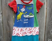 Green Eggs And Ham Upcycled Dress Size 5/ 6