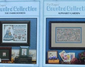 The Embroideress & Alphabet Garden, #PR33 – Pat Rogers - 2 Cross Stitch Charts