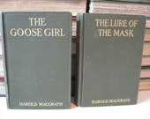 The Lure Of The Mask and The Goose Girl by Harold MacGrath Antique Novels Harrison Fisher illustrations
