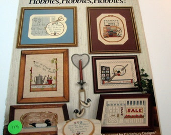 Canterbury Designs Hobbies, Hobbies, Hobbies Cross Stitch booklet by Joyce B. Drenth  - Book 68  from 1998