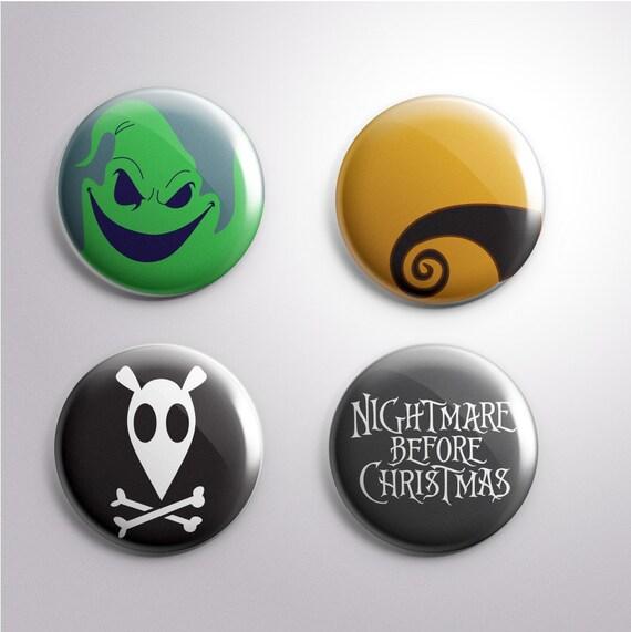"Seasonal: Nightmare Before Christmas Buttons, 1"""